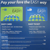 Easy Card und Easy Ticket für das Public Bus Transportation System Miami