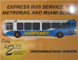 Express Bus Service From Miami Airport To Metrorail And Miami Beach