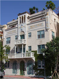 Mediterranean Revival Baustil in Miami Beach Florida