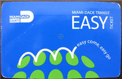 Miami Dade Public Transportation Easy Ticket