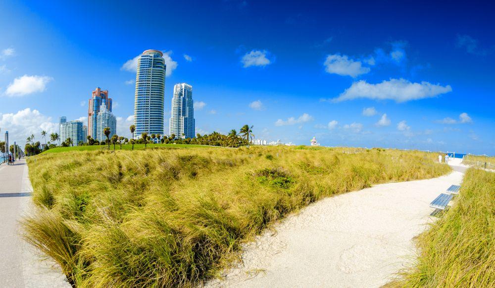 Selbst im Winter ist das Klima in Miami Beach ausgezeichnet zum Baden: